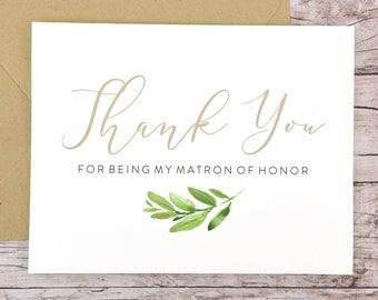 Thank You For Being My Matron of Honor Card (FPS0060)