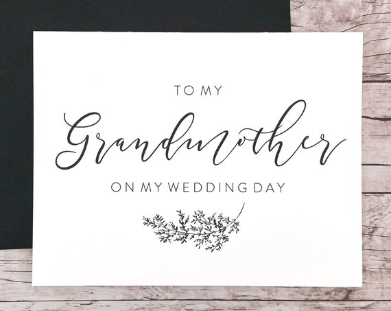 To My Grandmother On My Wedding Day Card (FPS0062)