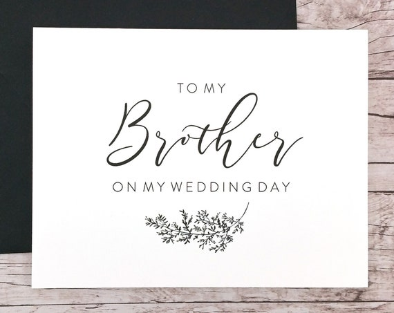 To My Brother On My Wedding Day Card (FPS0062)