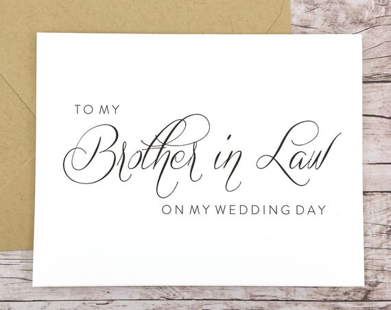 To My Brother in Law On My Wedding Day Card (FPS0058)