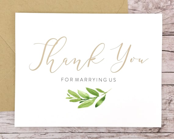 Thank You For Marrying Us Card (FPS0060)