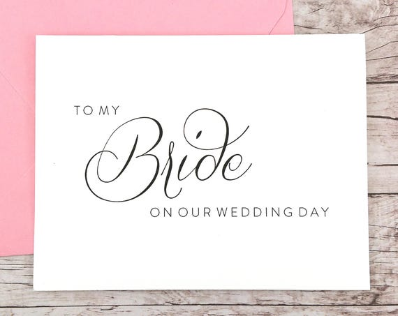To My Bride On Our Wedding Day Card (FPS0058)