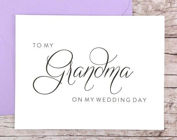 To My Grandma On My Wedding Day Card (FPS0058)