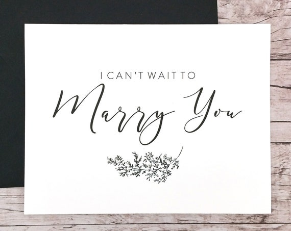I Can't Wait To Marry You Card (FPS0062)