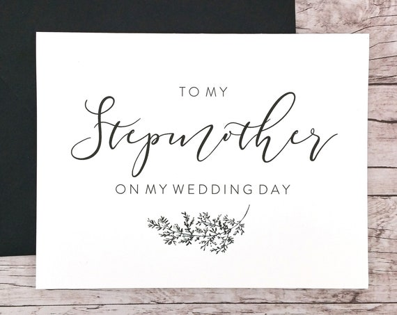 To My Stepmother On My Wedding Day Card (FPS0062)