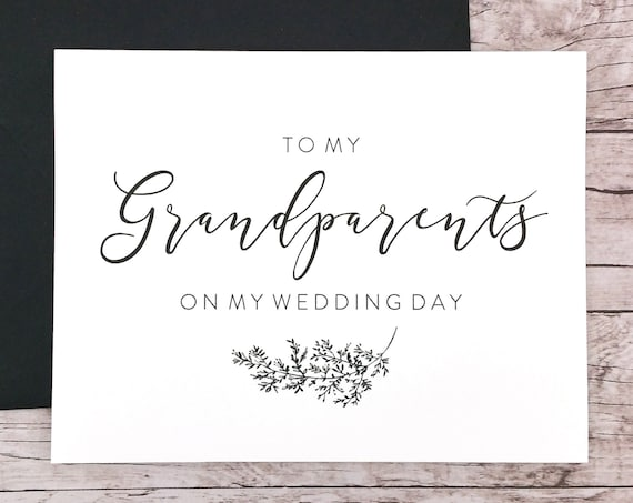 To My Grandparents On My Wedding Day Card (FPS0062)