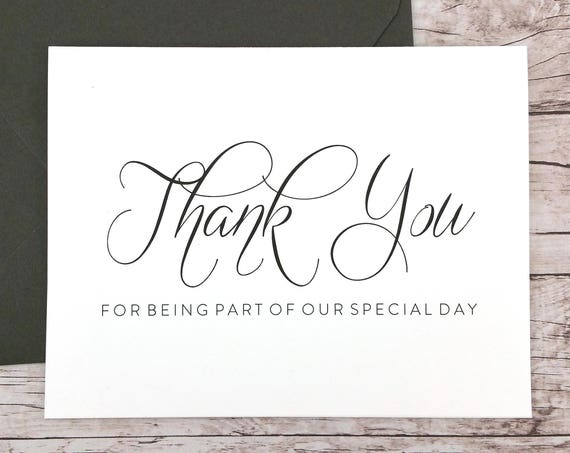 Thank You for Being Part of our Special Day Card (FPS0058)