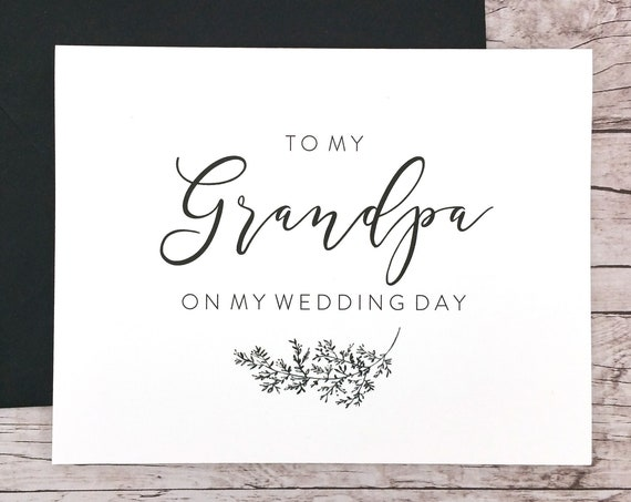 To My Grandpa On My Wedding Day Card (FPS0062)