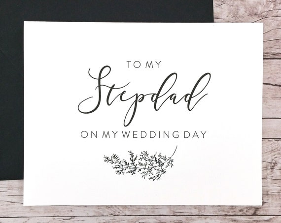 To My Stepdad On My Wedding Day Card (FPS0062)