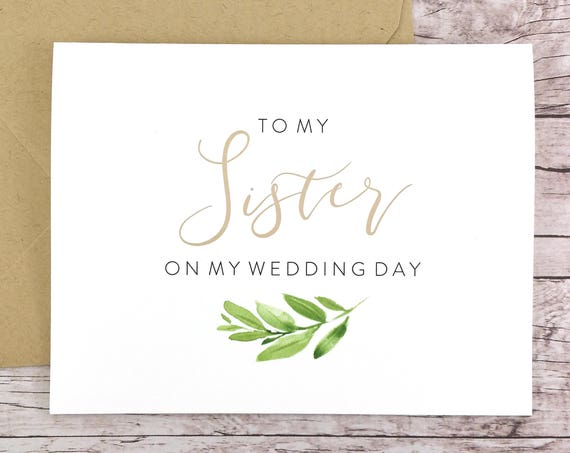 To My Sister On My Wedding Day Card (FPS0060)