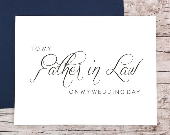 To My Father in Law On My Wedding Day Card (FPS0058)