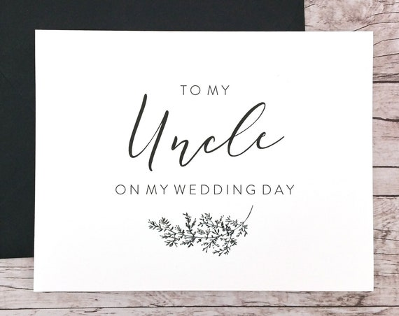 To My Uncle On My Wedding Day Card (FPS0062)