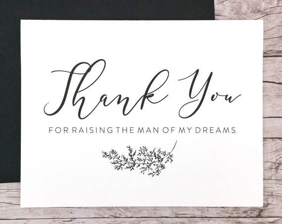 Thank You For Raising the Man of My Dreams Card (FPS0062)