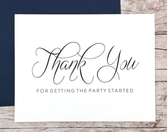 Thank You for Getting the Party Started Card (FPS0058)