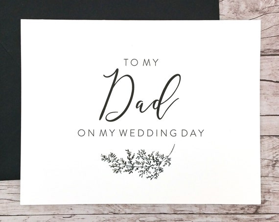 To My Dad On My Wedding Day Card (FPS0062)