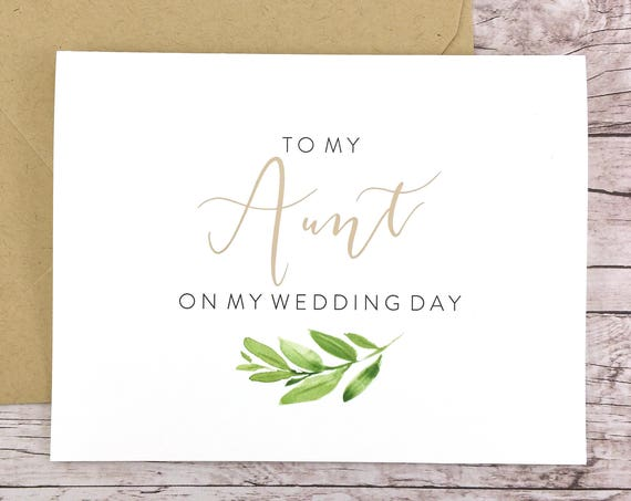 To My Aunt On My Wedding Day Card (FPS0060)