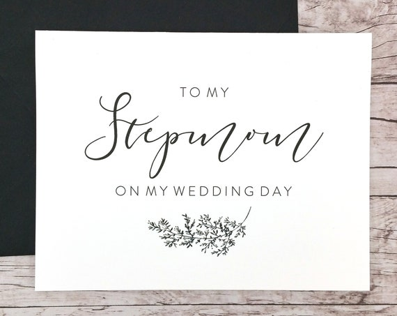 To My Stepmom On My Wedding Day Card (FPS0062)