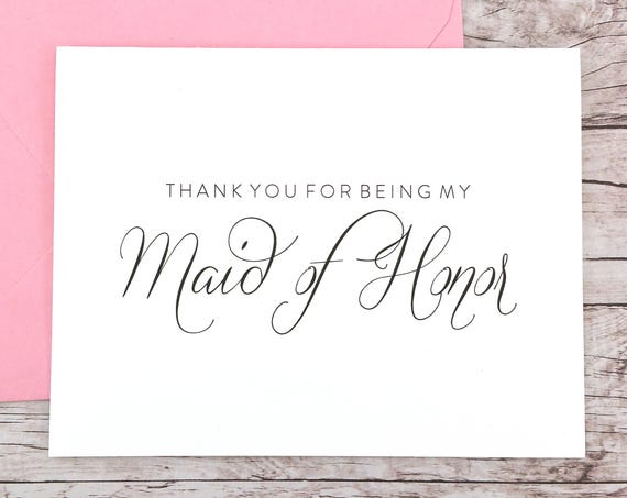 Thank You For Being My Maid of Honor Card (FPS0058)