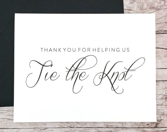 Thank You For Helping Us Tie the Knot Card (FPS0058)