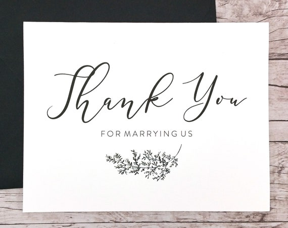 Thank You For Marrying Us Card (FPS0062)