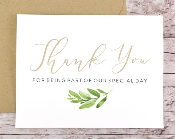 Thank You for Being Part of our Special Day Card (FPS0060)