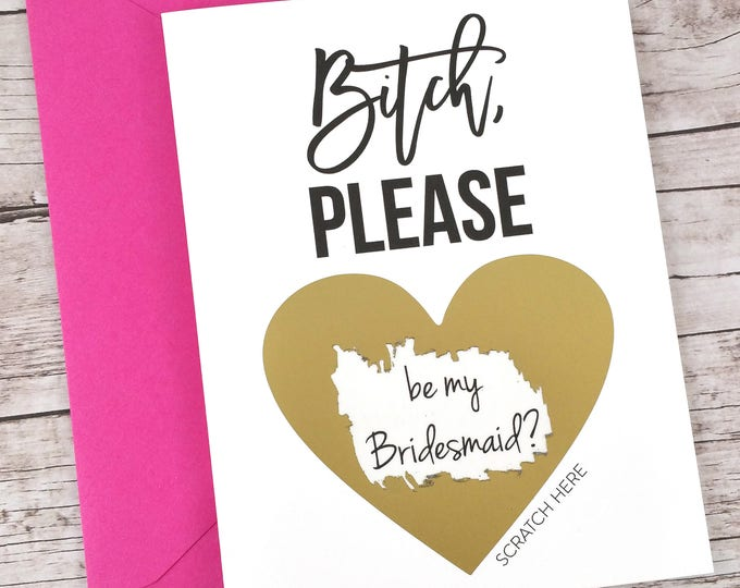 Bridesmaid Scratch Off Card (FPS00S17)