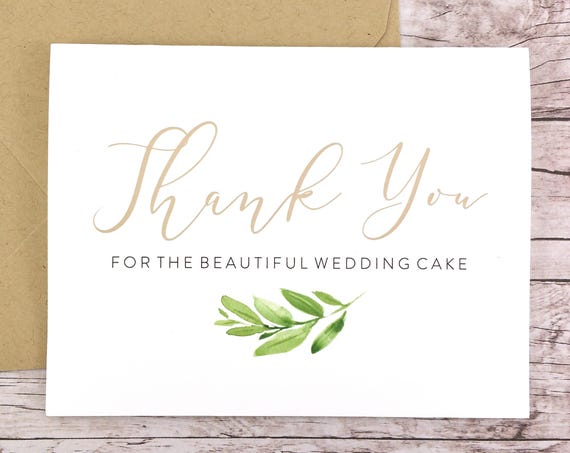 Thank You for the Beautiful Wedding Cake Card (FPS0060)