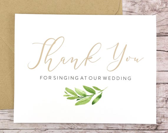 Thank You For Singing At Our Wedding Card (FPS0060)