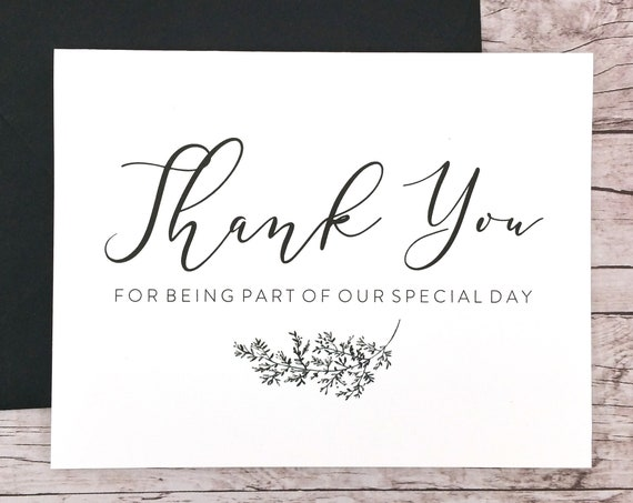 Thank You for Being Part of our Special Day Card (FPS0062)