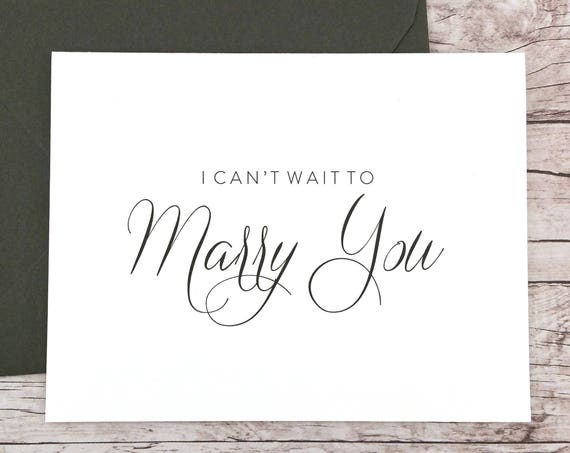 I Can't Wait To Marry You Card (FPS0058)