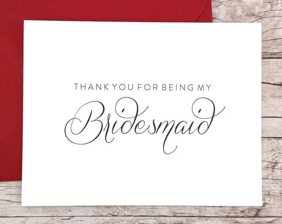 Thank You For Being My Bridesmaid Card (FPS0058)