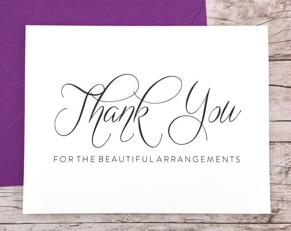 Thank You for the Beautiful Arrangements Card (FPS0058)