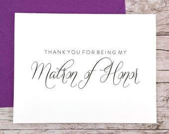 Thank You For Being My Matron of Honor Card (FPS0058)