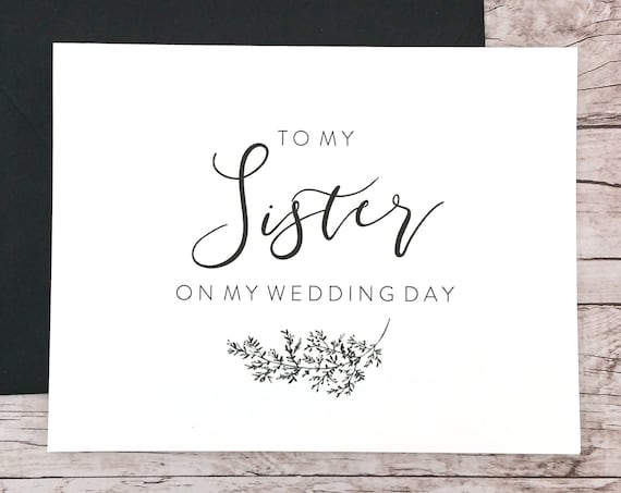 To My Sister On My Wedding Day Card (FPS0062)