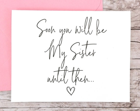 Soon You Will Be My Sister Card (FPS0061)