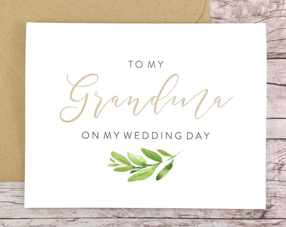 To My Grandma On My Wedding Day Card (FPS0060)