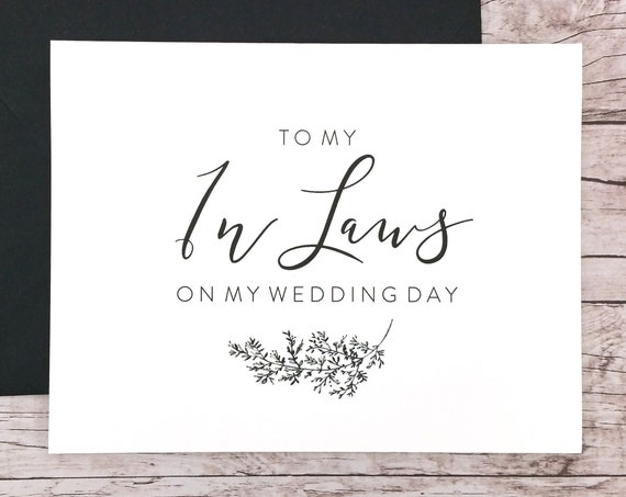 To My In Laws On My Wedding Day Card (FPS0062)