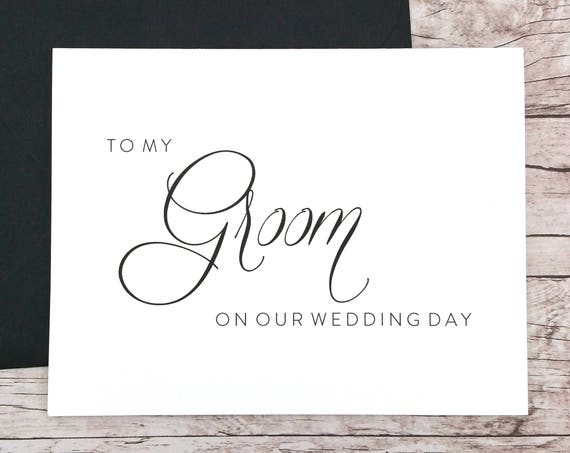 To My Groom On Our Wedding Day Card (FPS0058)