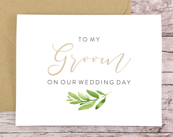 To My Groom On Our Wedding Day Card (FPS0060)