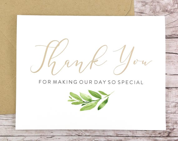 Thank You for Making Our Day So Special Card (FPS0060)