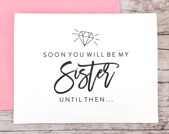 Soon You Will Be My Sister Card (FPS0057)