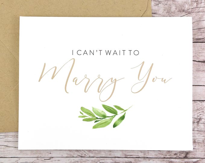 I Can't Wait To Marry You Card (FPS0060)