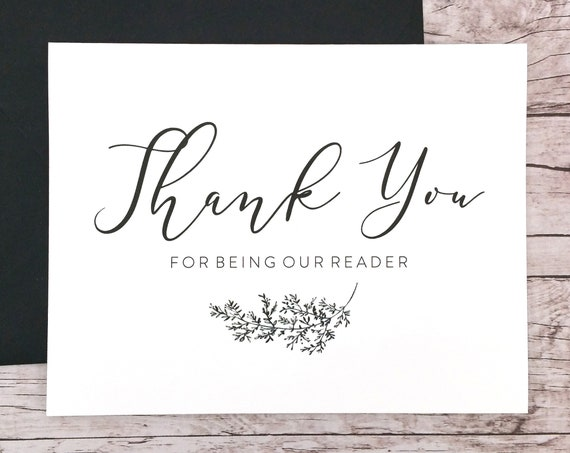 Thank You For Being Our Reader Card (FPS0062)