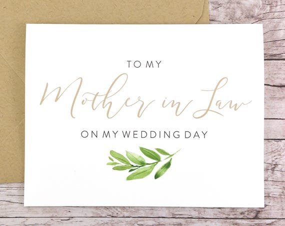 To My Mother-in-Law On My Wedding Day Card (FPS0060)