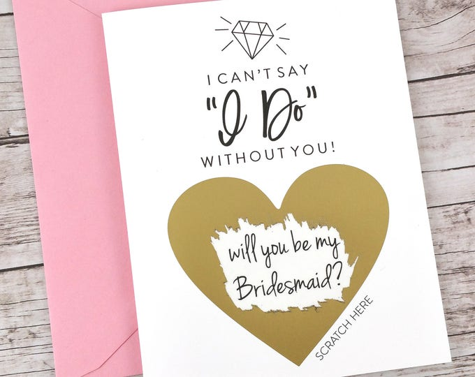 Bridesmaid Scratch Off Card (FPS00S23)