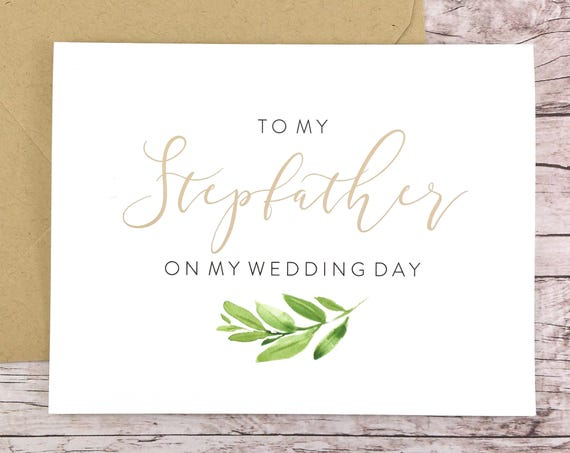 To My Stepfather On My Wedding Day Card (FPS0060)