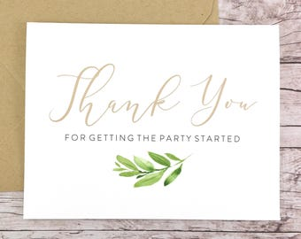 Thank You for Getting the Party Started Card (FPS0060)
