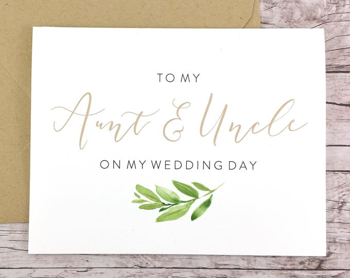 To My Aunt & Uncle On My Wedding Day Card (FPS0060)