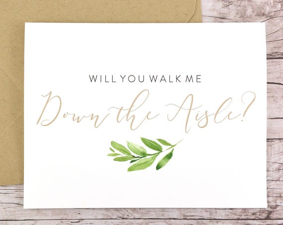 Will You Walk Me Down the Aisle Card (FPS0060)