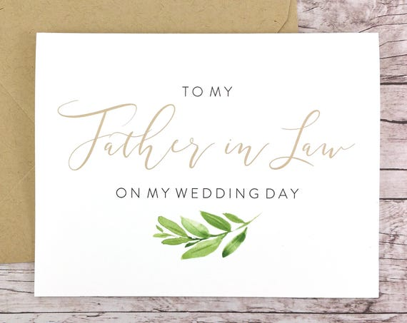To My Father-in-Law On My Wedding Day Card (FPS0060)